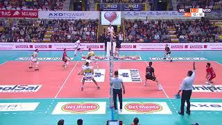 Modena Volley - Il punto infinito contro Milano chiuso dalla schiacciata di Tine Urnaut