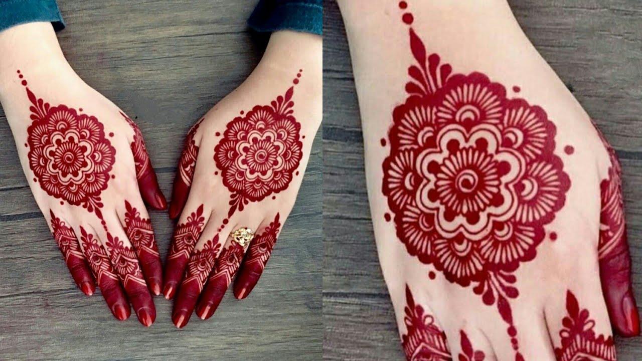 beautiful back hand mehndi design tutorial blossoms love