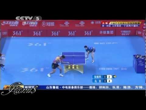 2012 China Super League: ZHANG Jike - MA Long [Full* Match/Short Form]