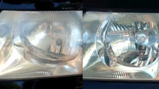 HOW TO CLEAN DIRTY HEADLIGHTS WITH TOOTHPASTE - Before and After
