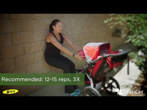 "BOB and FIT4MOM Stroller Exercises - Wall Sit ""Itsy Bitsy Spider"""