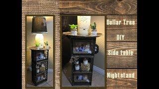 Dollar Tree DIY Side Table Night Stand