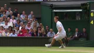 Tennis Highlights, Video - Amazing Andy Murray point at Wimbledon 2013