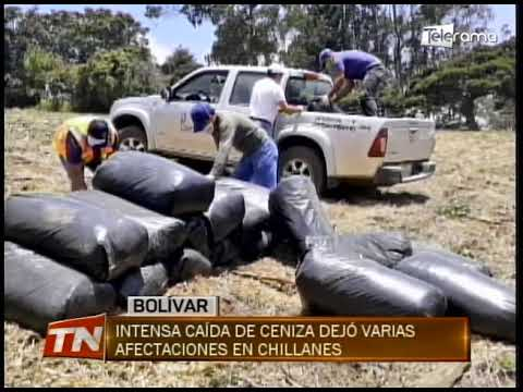 Intensa caída de ceniza dejó varias afectaciones en Chillanes