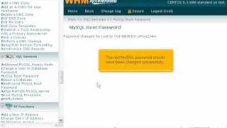How To Change The Root MySQL Password In WHM - WHM Service Tutorials