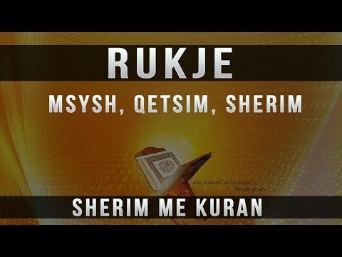 Rukje per Msysh, Qetsim, Gjum, Sherim me Kuran