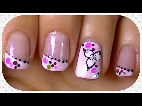 candy flower nail art design