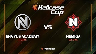 EnVyUs Academy vs Nemiga, cobblestone, Hellcase Cup 6