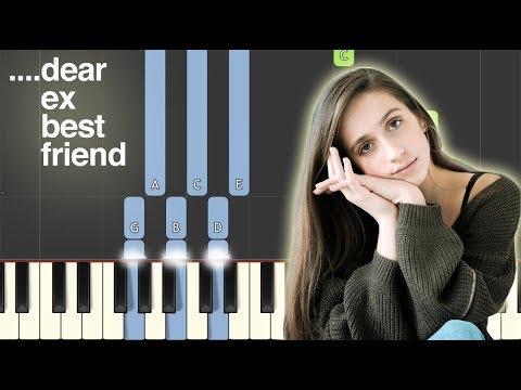 ....dear ex best friend (Tate McRae) Synthesia Piano Keyboard Tutorial