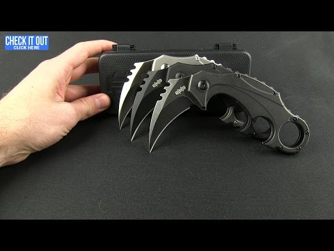 "Brous Blades Elite Enforcer Folding Karambit Knife ASW Ti (2.6"" Acid SW)"