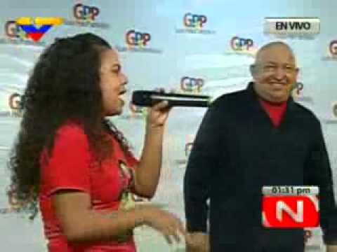 Rodbexa rapea con el Comandante Chávez