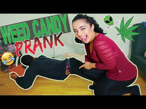 WEED CANDY PRANK (EDIBLES) FUNNY LMAO (видео)