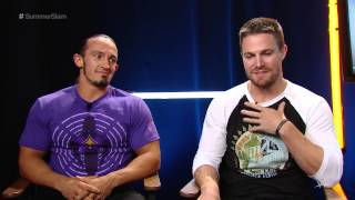 Stephen Amell & Neville Pre-Fight Interview