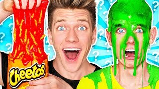 Video Mystery Wheel of Slime Challenge! *HOT CHEETOS SLIME* Learn How To Make DIY Switch Up Oobleck Food MP3, 3GP, MP4, WEBM, AVI, FLV Juli 2019