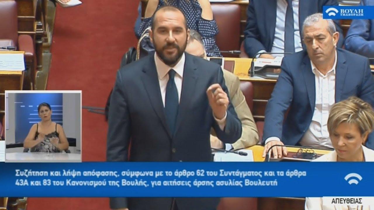 Ομιλία του κοινοβουλευτικού εκπροσώπου του ΣΥΡΙΖΑ Δ. Τζανακόπουλου στη Βουλή