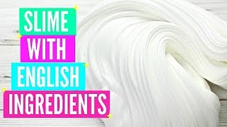 How To Make Slime In The UK! No Borax British Slime Recipes and Slime Ingredients