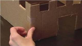 The first step in building a cardboard box castle is to cut four pieces of cardboard to create the walls of the castle. Learn about making a bridge for a car...