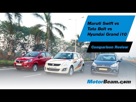 Maruti Swift vs Tata Bolt vs Hyundai Grand i10 – Comparison Review | MotorBeam