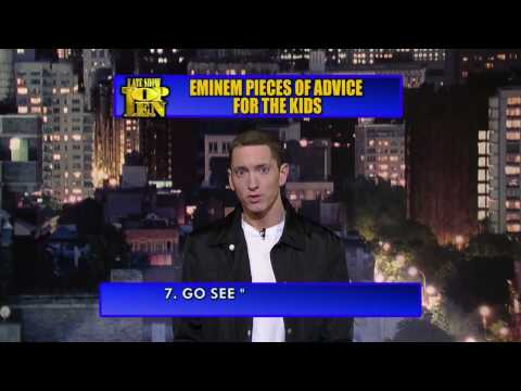 David Letterman Eminem's Top Ten Piece's of Advice for Kid's