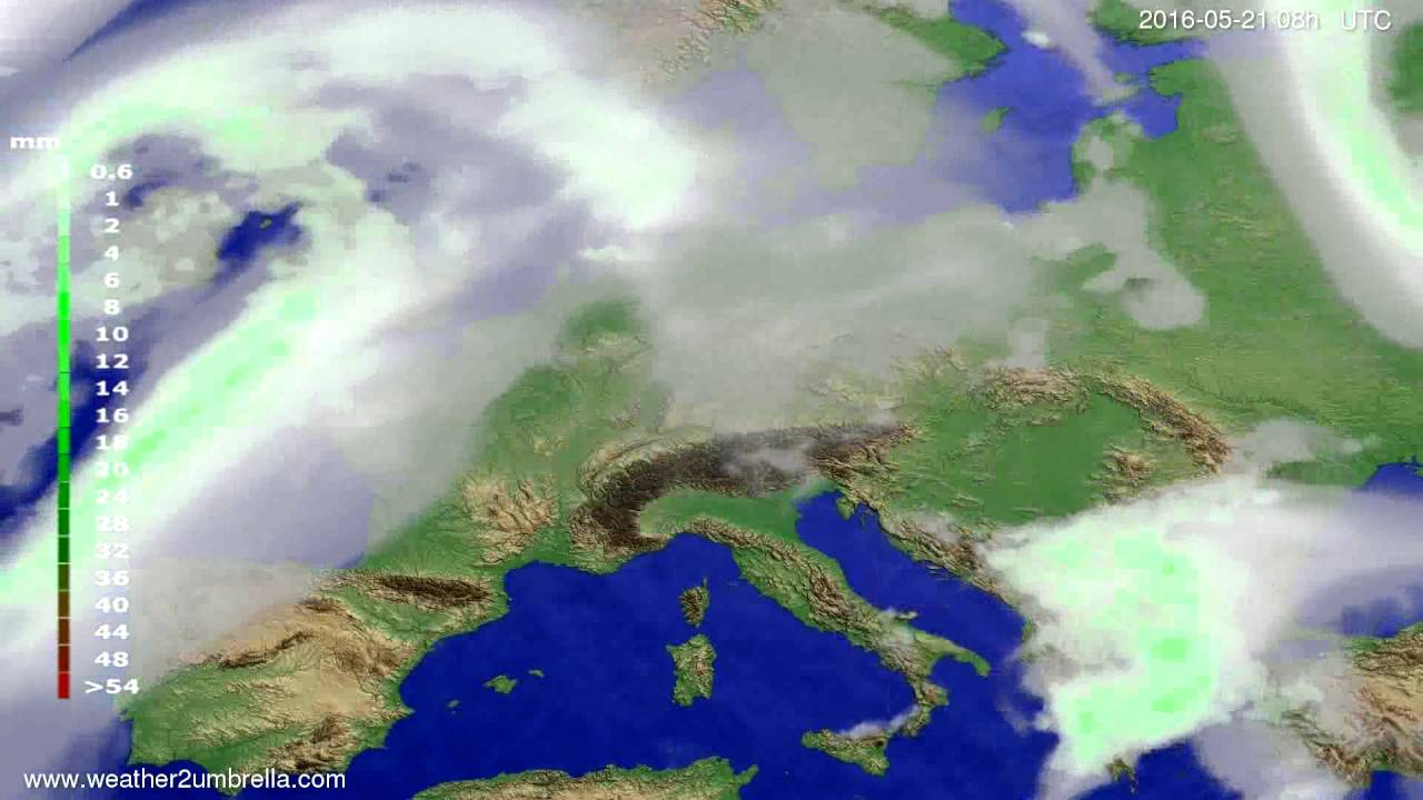 Precipitation forecast Europe 2016-05-18