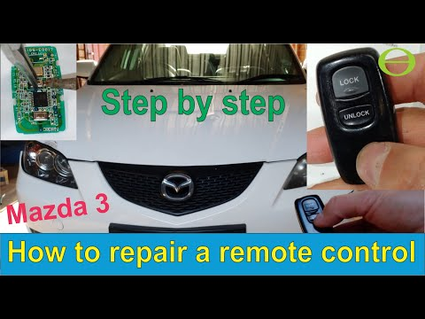 How to repair a faulty Mazda 3 remote control (2004 model)