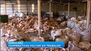 Cooperativas de reciclagem voltam ao trabalho em Sorocaba