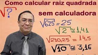 Video Como calcular raiz quadrada sem calculadora MP3, 3GP, MP4, WEBM, AVI, FLV November 2017