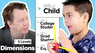 Physicist Explains Dimensions in 5 Levels of Difficulty | WIRED
