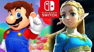 Nintendo Switch ALL TRAILERS - Super Mario Odyssey, Zelda Breath of the Wild & More (2017)