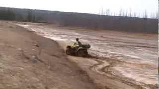7. suzuki king quad 450 2009 mudding in sludge