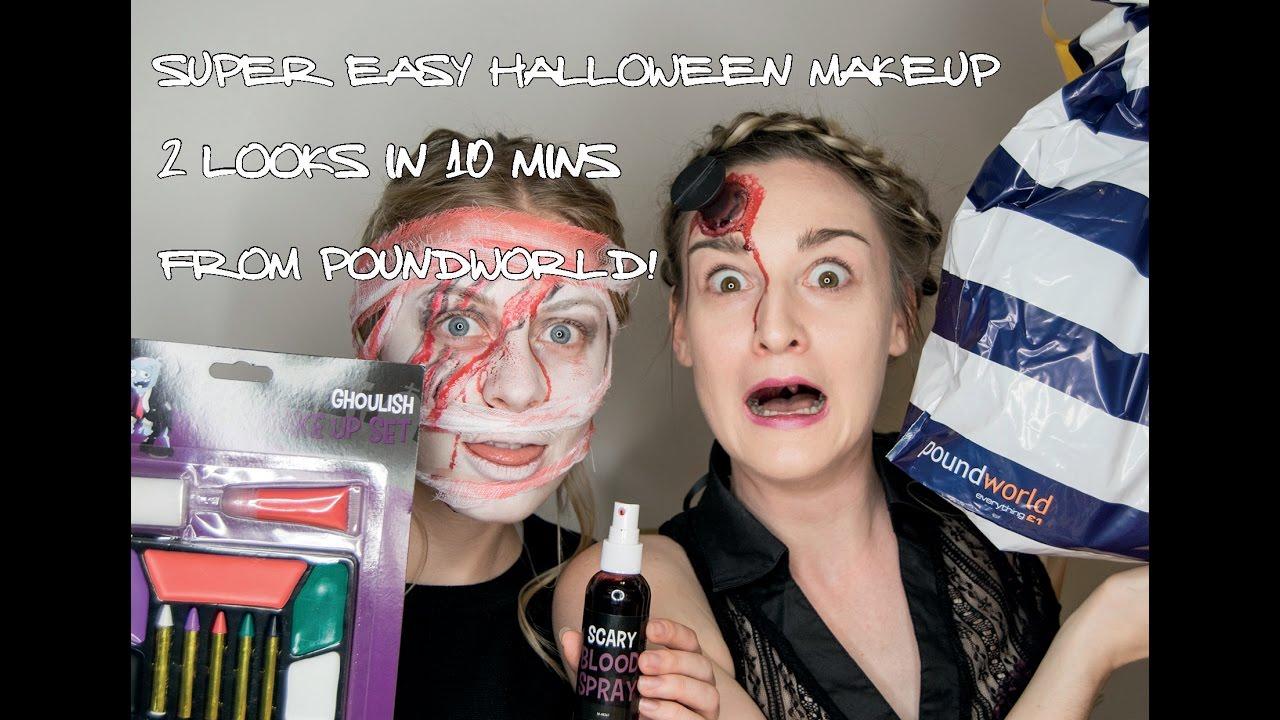 Super Easy Halloween Makeup | 2 looks in 10 mins | POUNDWORLD | SAHARASPLASH | AD