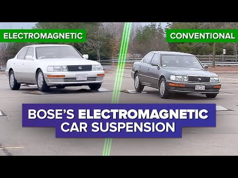 Watch Bose's incredible electromagnetic car suspension system in action - YouTube