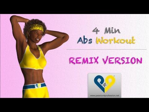 腹直肌 - 腹部锻炼4分钟- 为女性(混合版本). 此训练是根据造就著名的