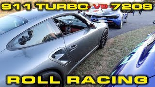 Big HP 6 Speed Manual Porsche Turbo vs McLaren 720S * Plus Shelby GT500 Update by DragTimes