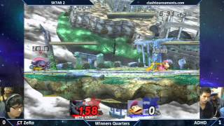 In honor of the upcoming ROB, I want you guys to look at one of the best sets in the game's history. SKTAR 2 – ADHD vs. ZeRo – Winners Quarters