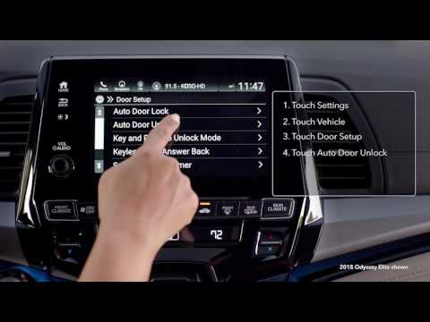2018 Honda Odyssey: How To Change Vehicle Settings