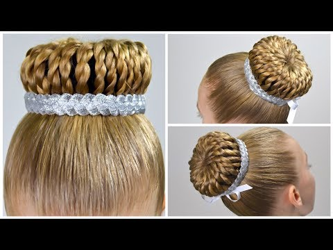 Braid hairstyles - New Year's Eve Hair StylePerfect Braided Bun with Hair DonutAmazing & Easy Hairstyles for Girls#19