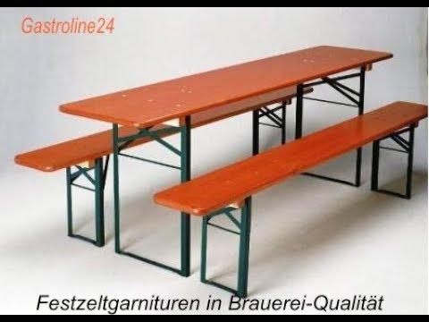 Gastroline24.net Bierzeltgarnitur vs. Baumarkt Garnitur