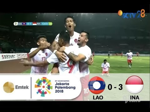 Full Highlights Sepak Bola Laos (0) VS (3) Indonesia | Asian Games 2018 - 17/08/2018