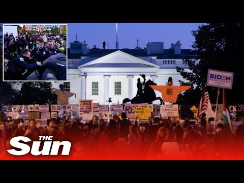 Cops clash with BLM and Antifa protesters in ugly scenes outside White House