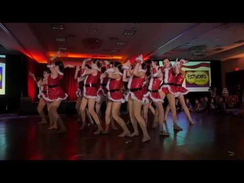 2016 Footworks Dance Team Performs Deck the Halls at Christmas in the City