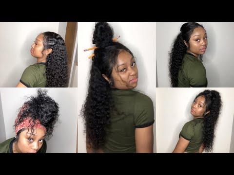 5 Everyday Curly Hairstyles  ft. EVAWIGS  VLOGMAS day 2