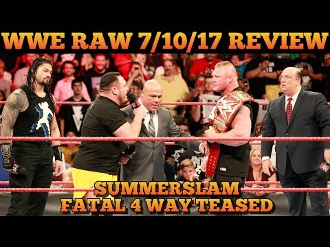 WWE Raw 7/10/17 Full Show Review & Results: SUMMERSLAM FATAL FOUR WAY TEASED, ANGLE REVEALS TEXTS