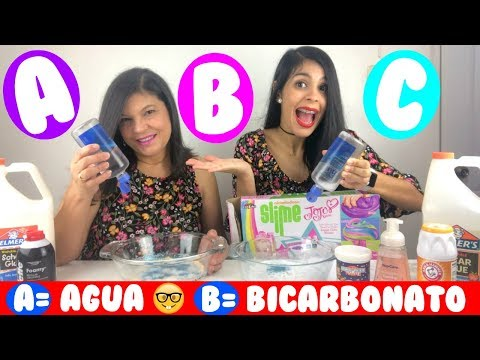 Haciendo SLIME En ORDEN ALFABÉTICO (SLIME ABC) | Making SLIME In ALPHABETICAL Order