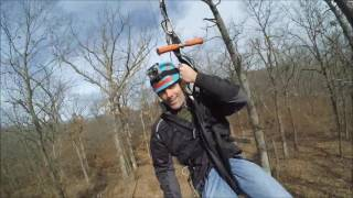 This was my first zip line experience, shot at Adventure Zip KC (www.zipkc.com, #zipkc) on January 30, 2016.  A little tight in the crotch sometimes, but an awesome experience!  Shot with a GoPro, Yi, and iPhone.