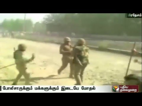 Public-clash-with-police-in-Rampur-Uttar-Pradesh