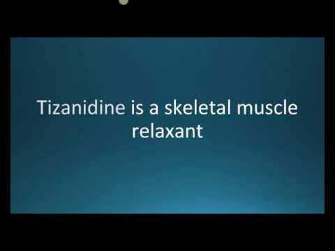 How to pronounce tizanidine (Zanaflex) (Memorizing Pharmacology Flashcard)