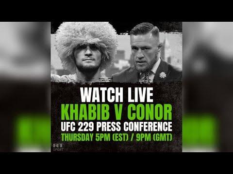 Conor McGregor vs. Khabib Nurmagomedov: Press conference ahead of UFC title fight (видео)