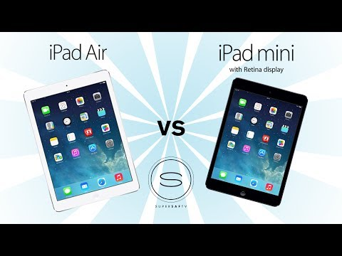 iPad Air vs iPad Mini 2 (Retina)