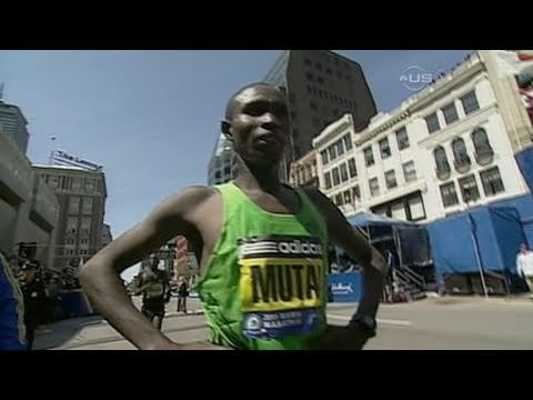 Mutai wins 2011 Boston Marathon in record 2:03:02 - Race Highlight Video